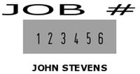 Печат с Номератор (6 цифрен) Colop Printer S 226/P (24x45мм.)