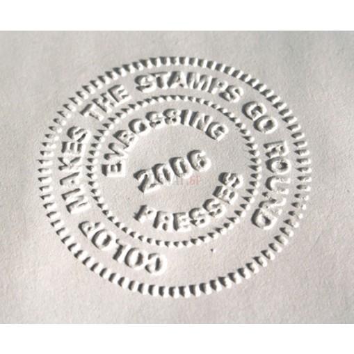 Сух печат ( 51x25мм.), кръгъл - IDEAL M1 DESK - 2