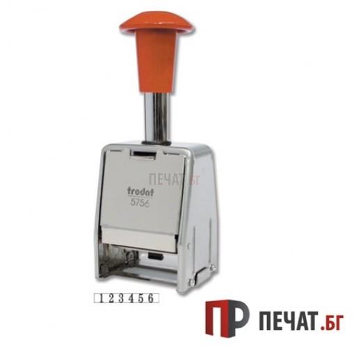 Професионален номератор Trodat 5756 с автоматично превъртане 6 цифрен - 2