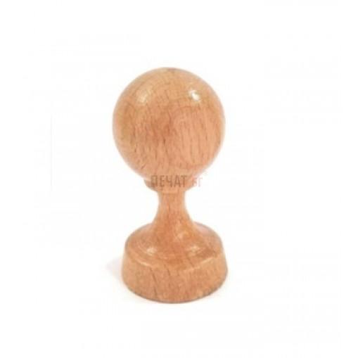 Кръгъл печат на дървена дръжка (30мм.)