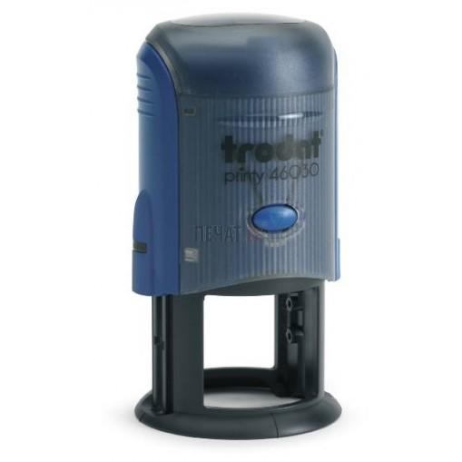 Печат Trodat R30 (Ф30мм.), Двуцветен - синьо и червено - 6