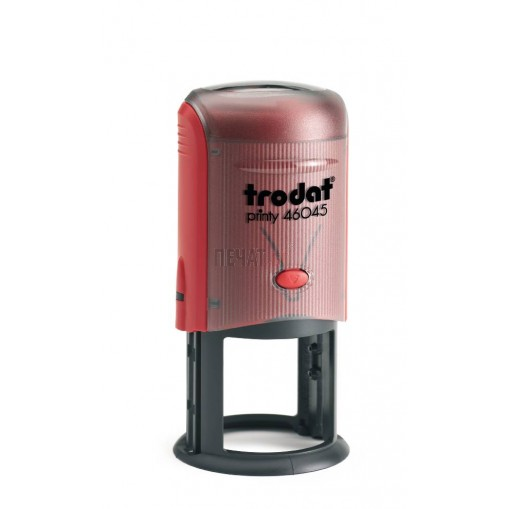 Печат Trodat 46045 (Ф45мм.), черен/син/червен, кръгъл